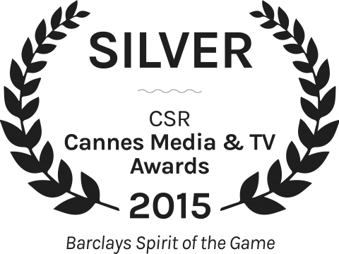 Barclays Spirit of the Game Silver Sponsoring CSR Cannes Media TV Awards 2015