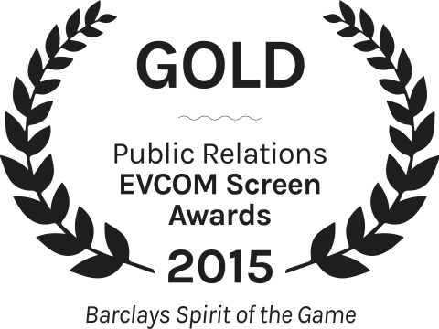 Barclays Spirit of the Game Gold Public Relations EVCOM Screen Awards 2015