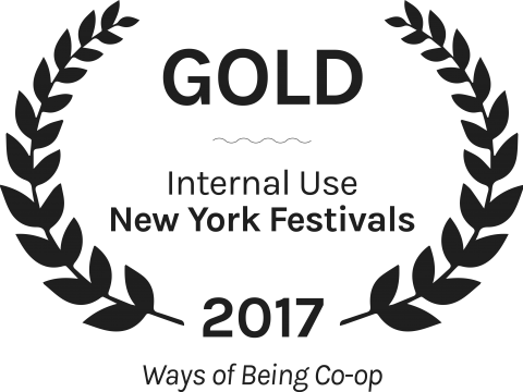 Gold internal use new york festivals ways of being co op